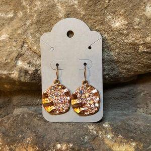 Charming Charlie rose gold earrings
